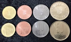 ROMANIA-SET-4-COINS-5-10-25-50-BANI-2019-UNC