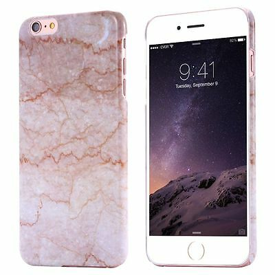 For iPhone SE 5 5s 6 6s Plus Ultra Thin Printed Marble Pattern Back Case Cover