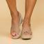 Damen Plateau Sandalen Espadrilles Keilabsatz Sandaletten Bequeme Sommerschuhe