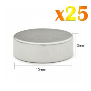 25-x-Neodymium-Fort-Rond-Magnets-Super-Craft-Disc-Rare-Terre-NdFeb-N35-Grade
