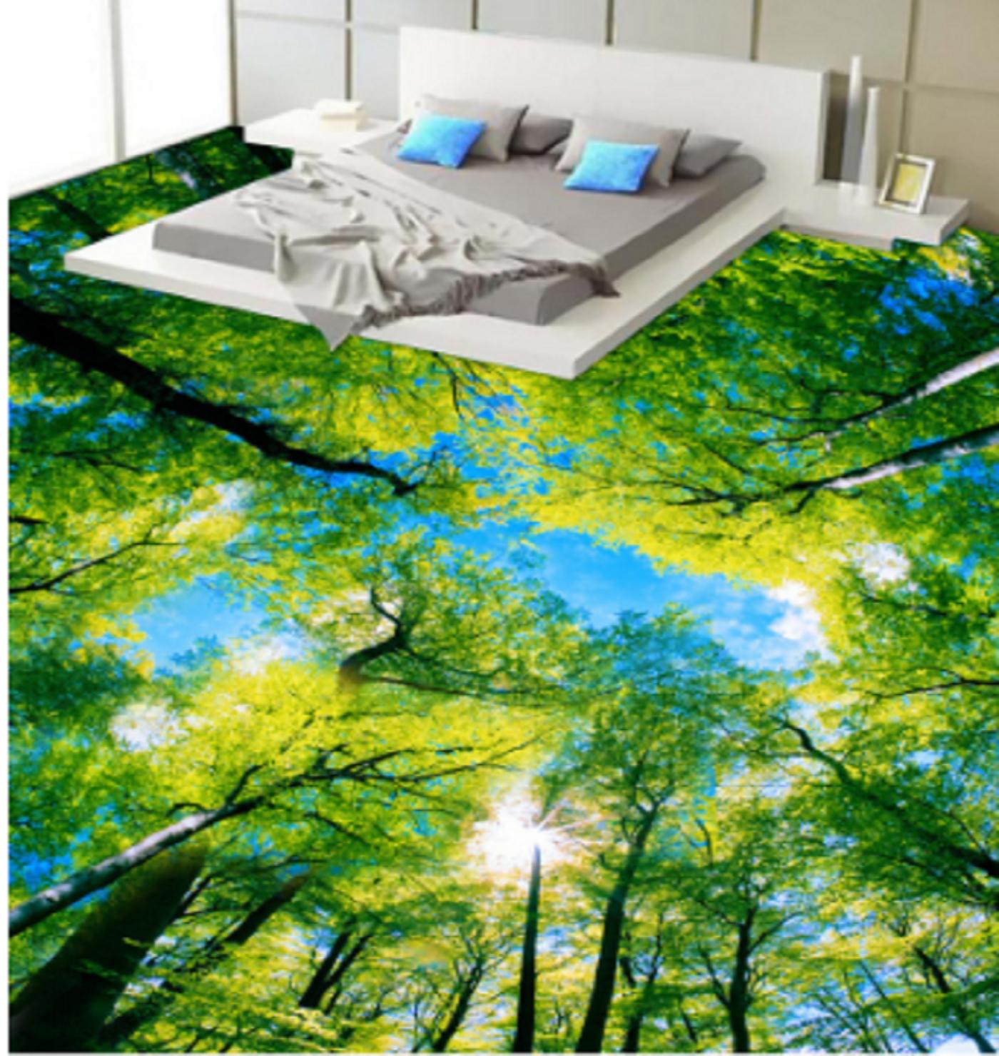 3D Sky Grün Forest 78 Floor WallPaper Murals Wall Print Decal AJ WALLPAPER US