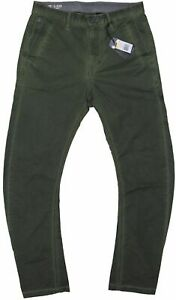 New-G-Star-Raw-Mens-Bronson-Tapered-Chino-Pants-in-Green-Colour-Size-W-30-L-34