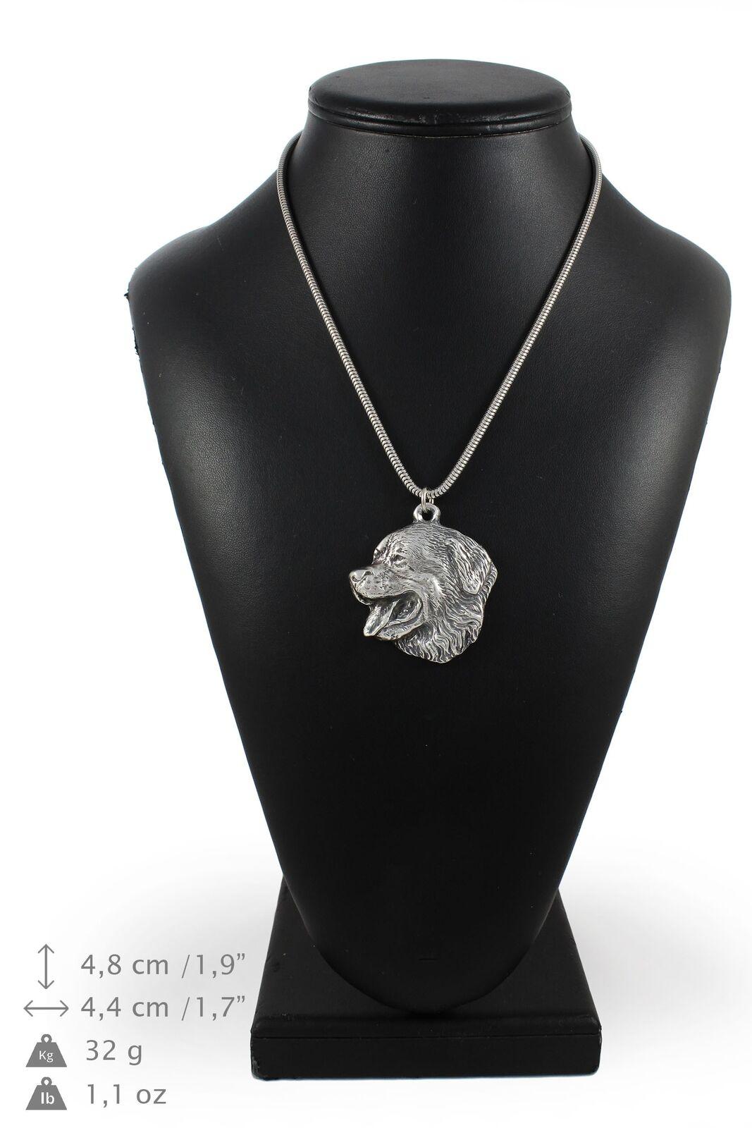 Bouvier bernois 2 - collier en Silber plaqué sur une chaîne en Silber Art Dog FR