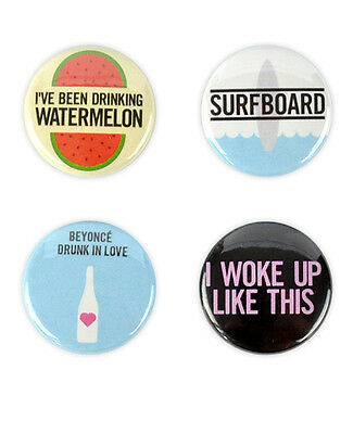 """Beyonce Buttons! """"I woke up like this"""" flawless, drunk in love, jay-z, knowles"""