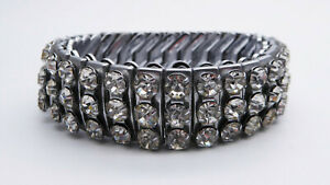 Vintage-C1950s-Sonata-Empire-Stretch-Diamante-Bracelet-Cuff