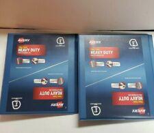 Lot Of 2 Avery Heavy Duty 79139 Blue 1 Inch Binders