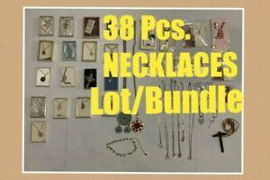Vintage-Religioso-Collar-Colgante-Joyeria-38-PC-Hermoso-Lote-18-3ms-24-4ms