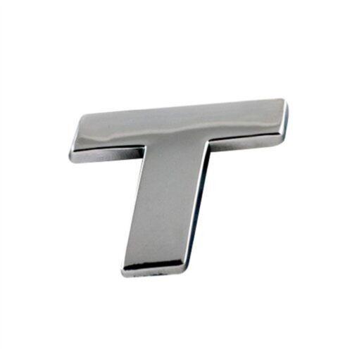 "Chrome Letter /"" T /"" Alphabe Number Ar Symbol Car Van Selfadhesive"
