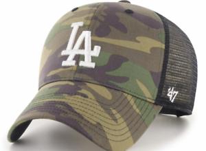 Los Angeles Dodgers Cap MLB Baseball 47 Brand Cap Kappe Camo Trucker SNAPBACK