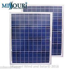 2 -12 Volt dc 50 Watt Polycrystalline Solar Panels Photovoltaic PV Off Grid boat