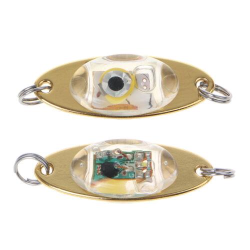 LED Deep Drop Underwater Eye Shape Fish Fishing Squid Lure Light Flashing Lamp