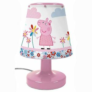 PEPPA-PIG-BEDSIDE-LAMP-BICYCLE-DESIGN-PINK-LIGHTING-LIGHT-CHILD-SAFE-BOXED-NEW