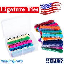40pcs Dental Elastic Ligature Ties Rubber Band Braces Orthodontic Assorted Color