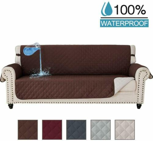 Reversible Quilted Waterproof 1//2//3 Sofa Cover Furniture Pet Dog Protector Throw