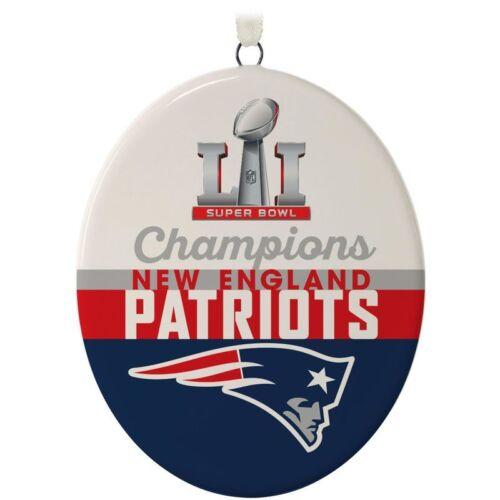 TWO Hallmark 2017 Tom Brady MVP /& New England Patriots Super Bowl LI Champions