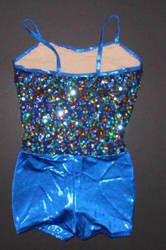 NWOT Dance Sequin Foil Lycra Shorty Unitard Sample Ladies siz Small WolffFording