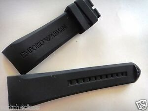 8a37d0092ffe Image is loading 23mm-curved-rubber-Band-Silicone-Strap-bracelet-AR5977-