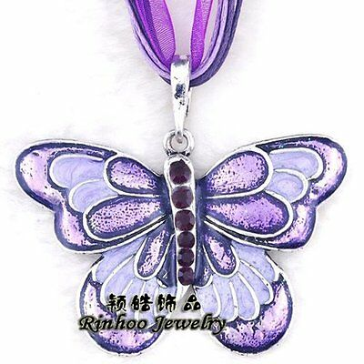 New Fashion Pendant Necklace Women Lucky Jewelry Crystal Butterfly Rhinestone