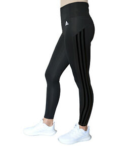 adidas 3 streifen leggings schwarz damen sport climalite