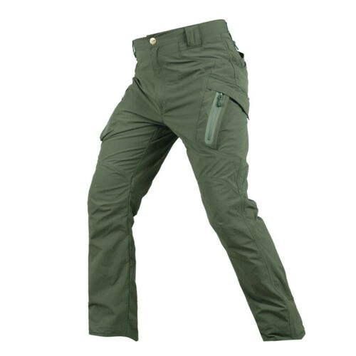 Da Uomo Tactical Cargo Combat Pantaloni Leggeri Quick Dry Escursionismo Impermeabili Casual