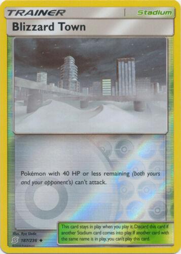 187//236 Reverse Holo NM-Mint Unified Minds Uncommon Pokemon Blizzard Town