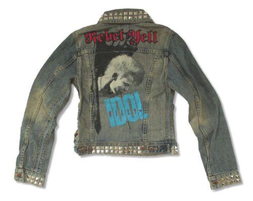 Billy Idol Trunk LTD Rebel Yell Girls Juniors Denim Jean Jacket New Official