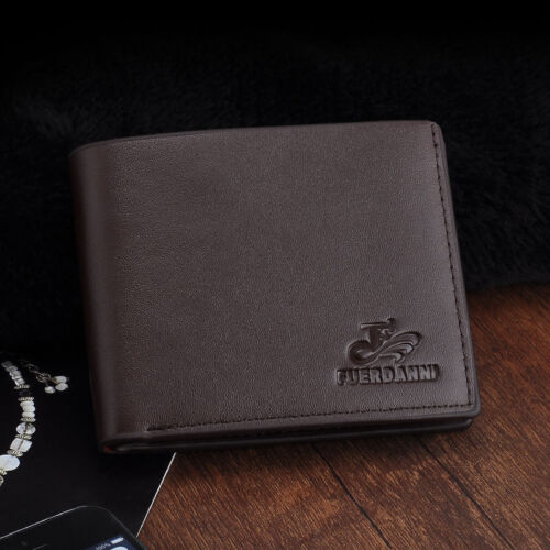 Soft Leather Bifold ID Card Holder Purse Wallet Billfold Men Handbag Slim Clutch