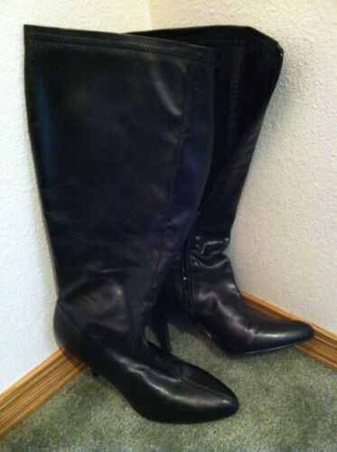 Diba Black Knee High classic Boots Sz 8 1/2/ 8.5 N