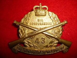 Details about Australia - 43rd/48th Infantry Battalion, The Hindmarsh  Regiment QC Cap Badge