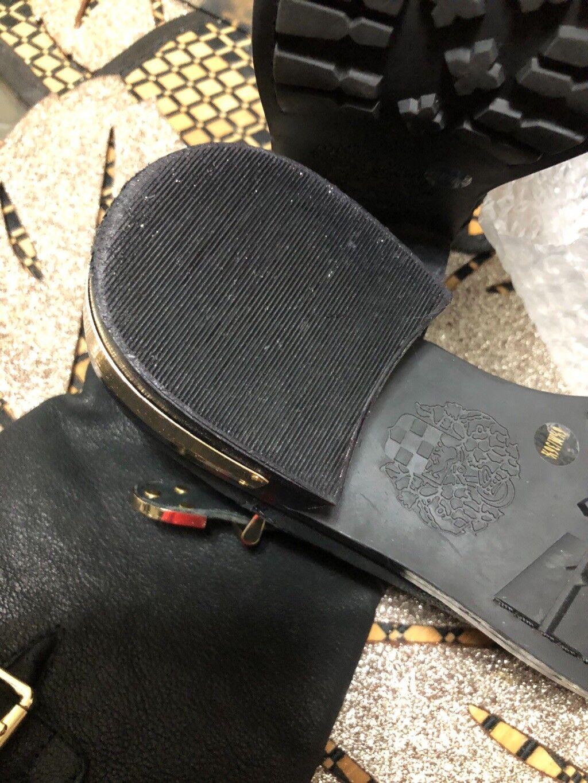 Vince Vince Vince Camuto estrenada Seda Negro botas De Cabra Hebilla oro Arnés US61 2M-EU361 2 b1d1d0