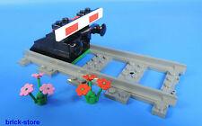 LEGO Tren recto Vías con Parada de búfer Nr.4 / negro con tope