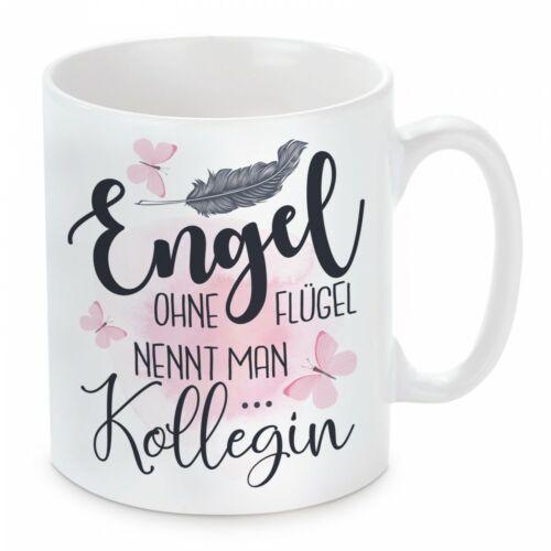 Herzbotschaft® Tasse mit Motiv Modell:Engel ohne Flügel nennt man Kollegin