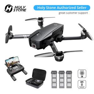 Holy Stone HS720 Foldable GPS Drone 2K Camera brushless 5G FPV 3 batteries +case
