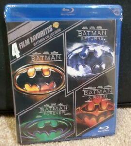 BATMAN-Blu-Ray-4-Movie-Set-RETURNS-FOREVER-ROBIN-New-Sealed