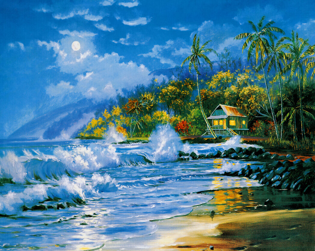 3D Seaside Cottage 48 Wall Paper Wall Print Decal Wall Deco Indoor AJ Wall Paper