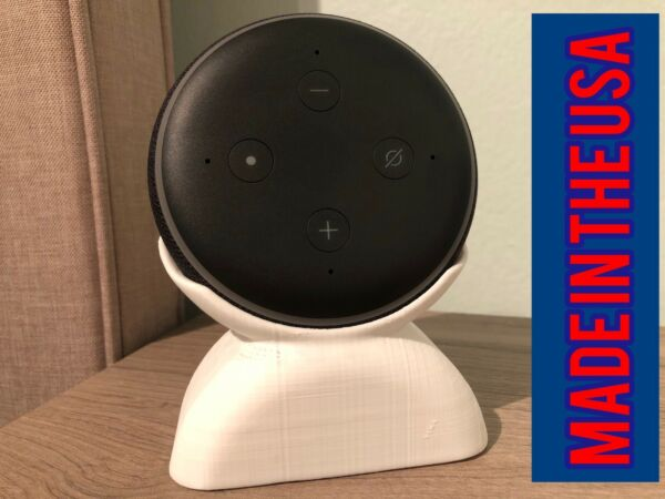 Agressief Alexa Echo Dot 3 Stand | Color White | Made In The Usa