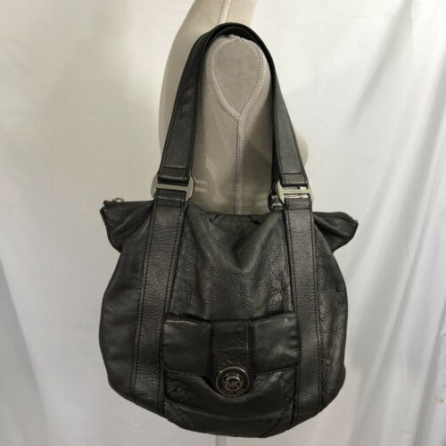 Michael Kors Gray Pebble Leather Tote with Front P