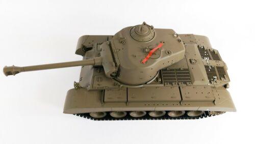 Royaume-Uni Longues Heng RC Tank 2.4 G Pershing Neige Leopard SMOKING et Sound /& BB Tir