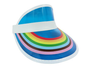 Retro Rainbow Color Sun Visor Beach Plastic Vegas Golf LGBTQ Gay Pride Hat