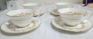 4-X-CUPS-amp-SAUCERS-DUOS-SAGUENAY-BY-ROYAL-WORCESTER