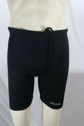 Large Black Realon Neoprene Diving Scuba Wetsuit Shorts