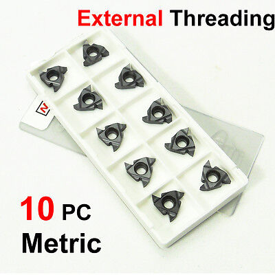 Thread Insert 11ER A60 10 Metric 60 Degrees Pitch 0.3-3.0 Metric Thread Can Be Processed According to Demand Good Versatility. Used for Insert Replacement of Lathe Tool Holder 11ER A60