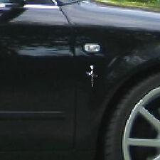 2 Stück Aufkleber 6cm Chrom Tattoo Wandtattoo Auto Deko Folie Rose Depeche Mode