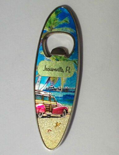 """FLORIDA SURFBOARD BEER BOTTLE /""""MAGNETIC/"""" OPENER JACKSONVILLE FL"""