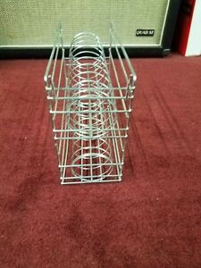 metal wire rack for guitar string packs w slat wall hooks. Black Bedroom Furniture Sets. Home Design Ideas