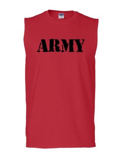 ARMY Muscle Shirt Military Veteran POW MIA Patriotic Veteran/'s Day Sleeveless
