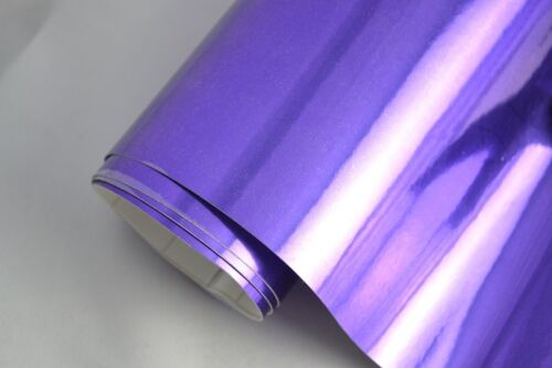 7 €//m² Chrome Foil-Purple 300 x 152 cm Flex Car Adhesive Film Self Adhesive