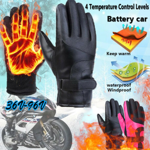 6005 2018 Outdoor Electric Heated Gloves Winter Warm Hand Motorcycle Gloves