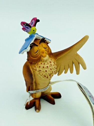 Bullyland Old Wise Owl Figure Winnie The Pooh Disney Film Hard Plastic Figurine