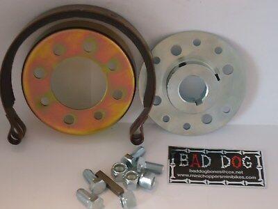 Brake Band 4-4 1//4 Inch with Pivot Pin Fits 4-4 1//4 Brake Drum Mini Bike